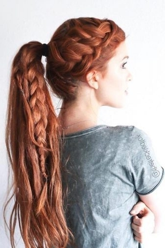 Hair How To: Double French Braid With Ponytail With Regard To Best And Newest Double French Braids And Ponytails (View 9 of 15)