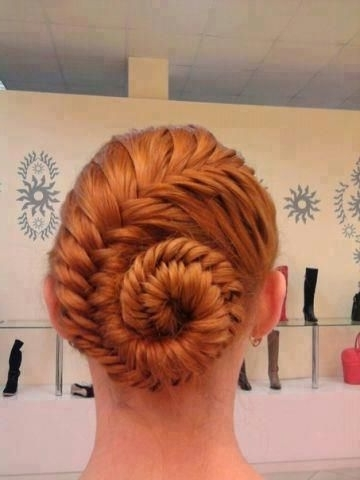 Hair Ideas || French Fishtail Braid Pinned Up | Projects To Try In Best And Newest Pinned Up French Plaits Hairstyles (View 10 of 15)