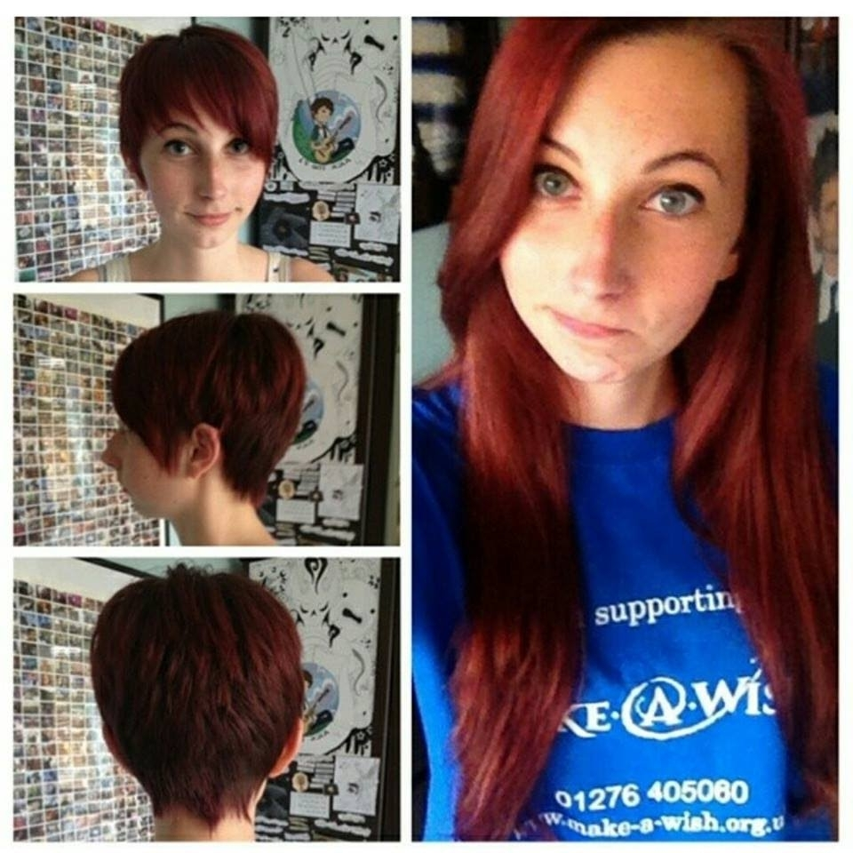 Featured Photo of Long Red Pixie Haircuts