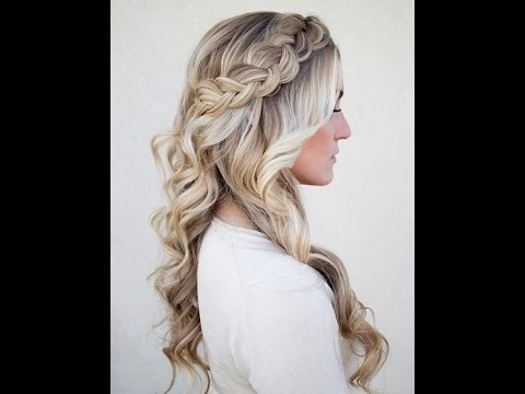 Hairstyle Tutorial: Dutch Braid With Curls – Youtube With Regard To Most Popular Braided Quinceaneras Hairstyles (View 6 of 15)