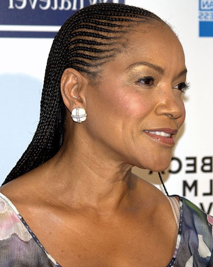 Hairstyles For Black Women Over 50 | Braids | Pinterest | Unique In Best And Newest Braided Hairstyles For Women Over (View 4 of 15)