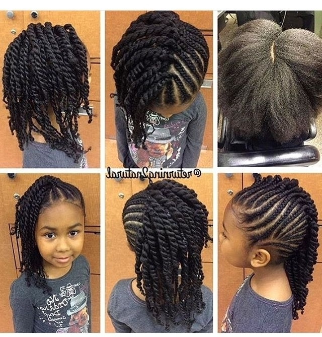 Hairstyles For Little Black Girls Natural Hair Style Braids Cute Within Latest Braided Hairstyles For Natural Hair (View 14 of 15)
