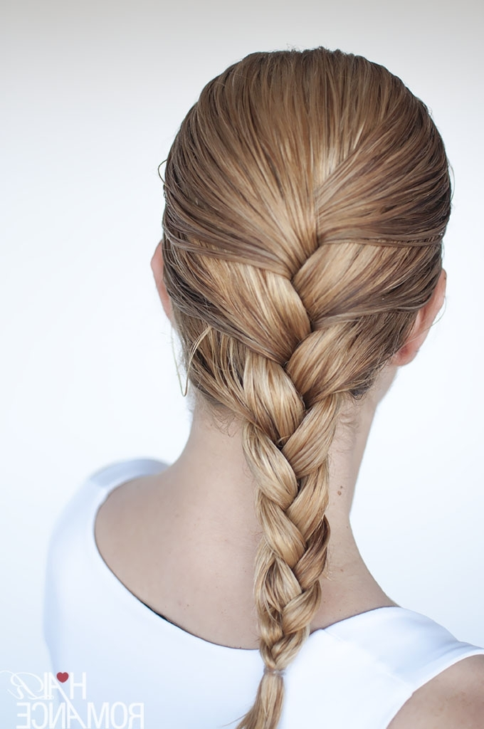 Hairstyles For Wet Hair: 3 Simple Braid Tutorials You Can Wear In Intended For Most Popular Reverse Braid Mohawk Hairstyles (View 7 of 15)