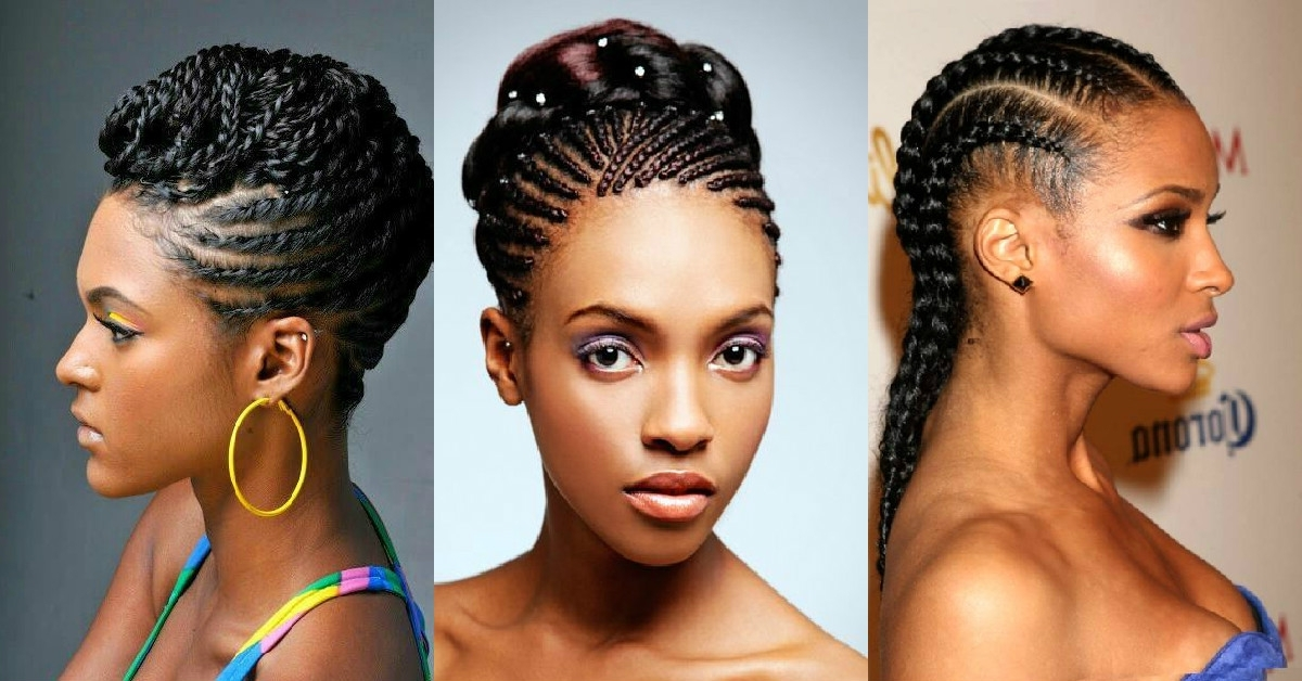Hairstyles That Stay Trendy: Cornrows (Ghana Braids) Inside Newest Ghanaian Braided Hairstyles (View 11 of 15)