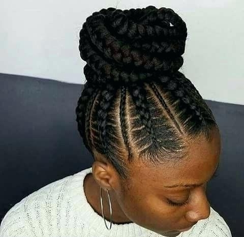 Hairstyles With Weave Braids Black Hair Braids With Cute Weave Also In Most Current Braided Updo Hairstyles With Weave (View 12 of 15)