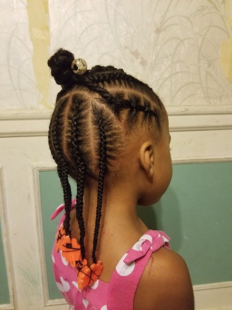 Half Braid Up Rubber Bands And Braids   Black Braided Hairstyles With Most Current Braid Hairstyles With Rubber Bands (View 8 of 15)