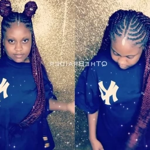 Half Cornrows/box Braids ?????????????? How Would You With Regard To Most Recently Half Cornrows Half Individual Braids (View 12 of 15)