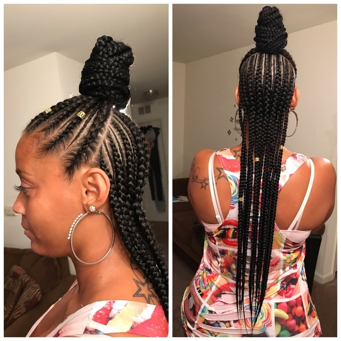 Half Cornrows Half Down | Hair Color Ideas And Styles For 2018 Throughout Most Recent Half Up Half Down Cornrows Hairstyles (View 4 of 15)