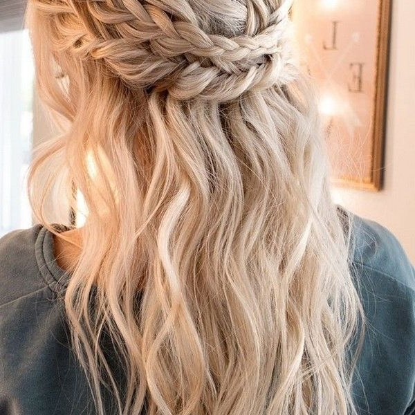 Half Up Braid Hairstyles Braided Half Up Half Down Hair We This Curl Throughout Most Current Half Up And Braided Hairstyles (View 11 of 15)