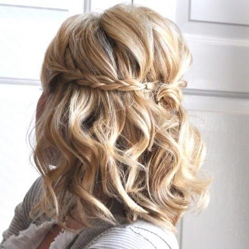 Half Up Braided Updos For Short Hair | Prom | Pinterest | Updos Regarding Most Recently Braided Updo Hairstyles For Short Hair (View 5 of 15)