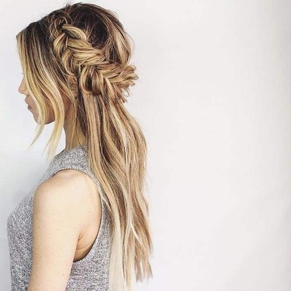 Half Up Hairstyles For Every Bride | Mywedding Inside Most Recent Long Braided Flowing Hairstyles (View 9 of 15)