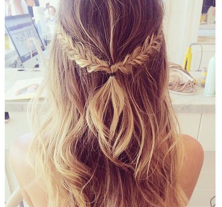 Half Up Half Down Braid #hair #hairstyle #longhair ? ??Pinterest Intended For Newest Braided Hairstyles With Hair Down (View 4 of 15)