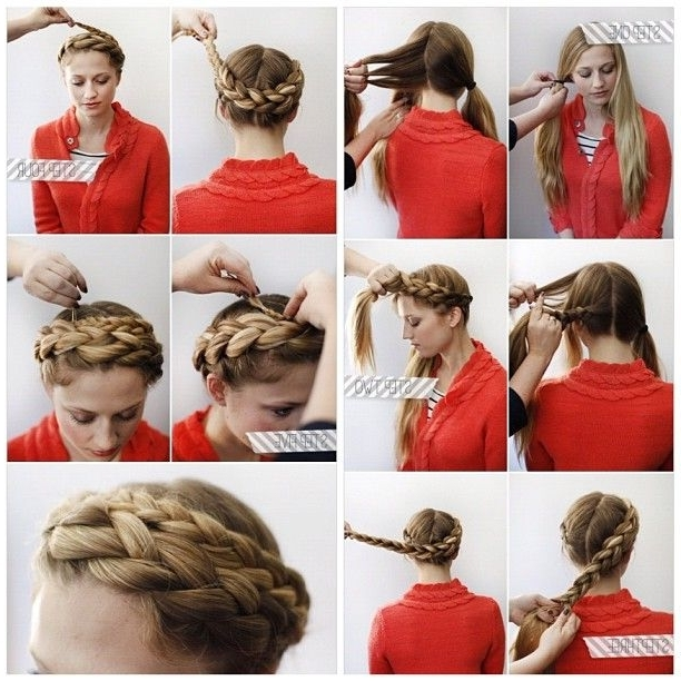 Halo Braid This Lovely Braid Requires Longer Hair But May Be Able To In Best And Newest Thick Halo Braid Hairstyles (View 10 of 15)