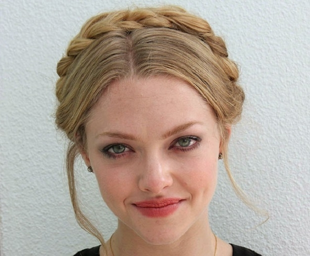 Halo Braid – Which Celebrity Wore It Best? – She'said' With Regard To Newest Thick Halo Braid Hairstyles (View 8 of 15)