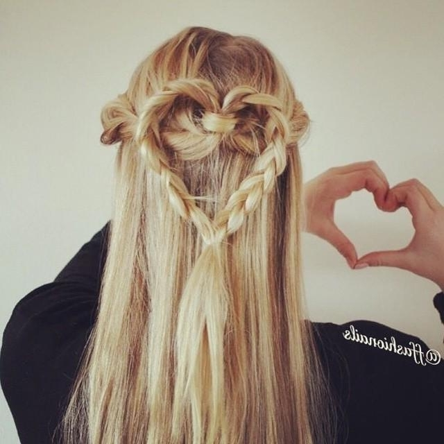 Heart Braid Hairstyle With Regard To Most Up To Date Heart Braided Hairstyles (View 5 of 15)