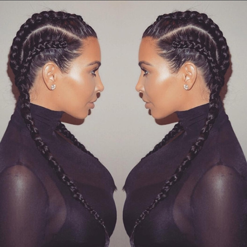 Here's Why Kim Kardashian Crediting Her Fulani Braids To Bo Derek Is Pertaining To Latest Kim Kardashian Braided Hairstyles (View 6 of 15)