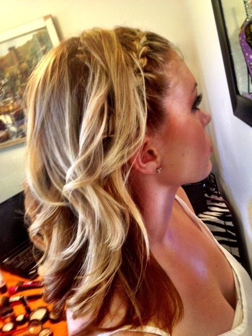 Homecoming Beauty Throughout 2018 Braided Crown With Loose Curls (View 8 of 15)