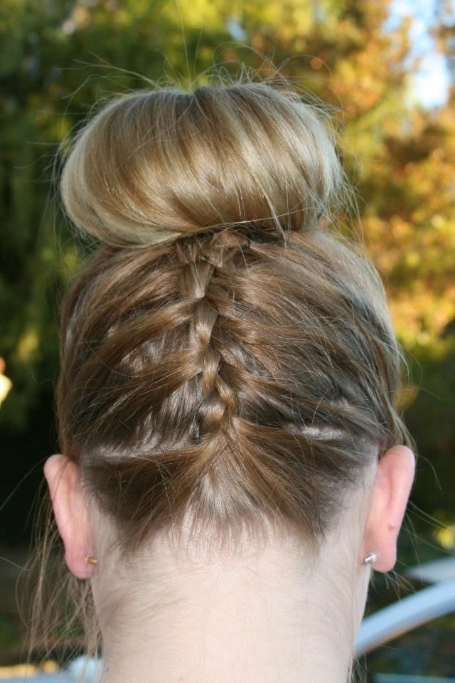 Homecoming Hair!!! Braided Bun :) | My Style | Pinterest In Most Current Braided Hairstyles For Dance Recitals (View 15 of 15)