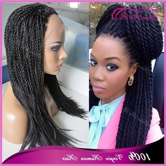 Hot Selling 150 Density Twist Braiding Hair Wig Synthetic Braided Pertaining To Most Popular Wigs Braided Hairstyles (View 12 of 15)