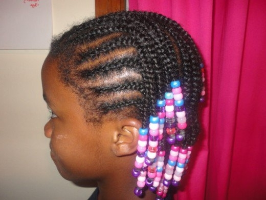 How To Braid Cornrows With Beads On Little Girls With African With Most Popular Cornrows Hairstyles For Work (View 15 of 15)
