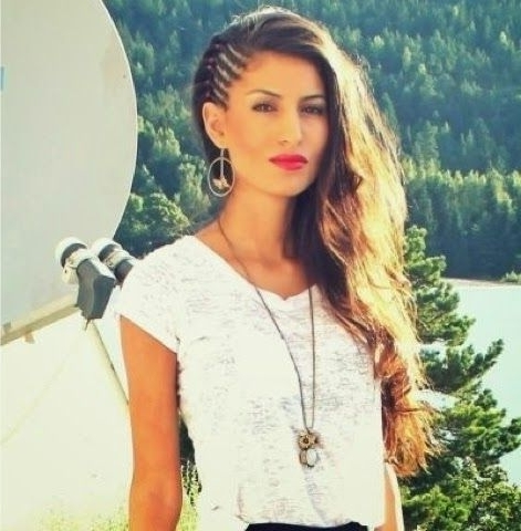 How To Chic: Half Head Cornrows Hairstyles | Beauty | Pinterest Pertaining To 2018 Half Cornrow Hairstyles (View 5 of 15)