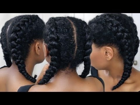 How To Cornrow Braid For Beginners | My Beautiful Maleyjah Inside Newest Two Cornrow Boxer Braids (View 5 of 15)