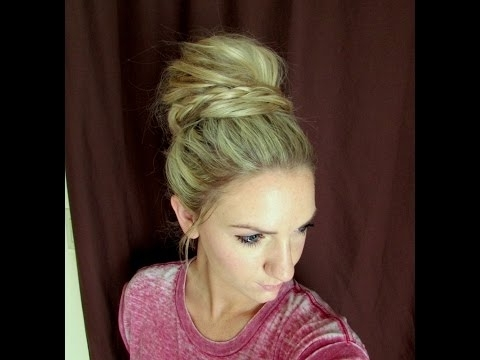 How To: Cotton Candy Braided Bun – Youtube In Most Current Cotton Candy Updo Hairstyles (View 7 of 15)