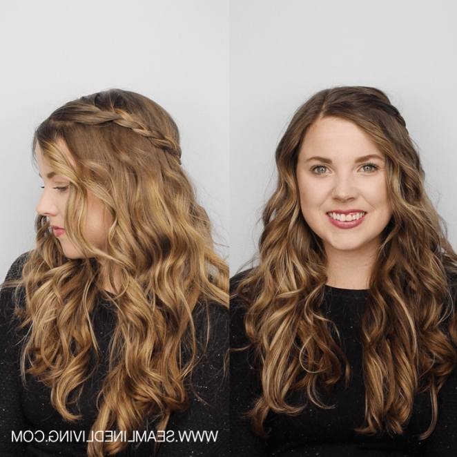 How To Create 6 Simple Braided Hairstyles After You Curl Your Hair In Latest Simple Braided Hairstyles (View 4 of 15)