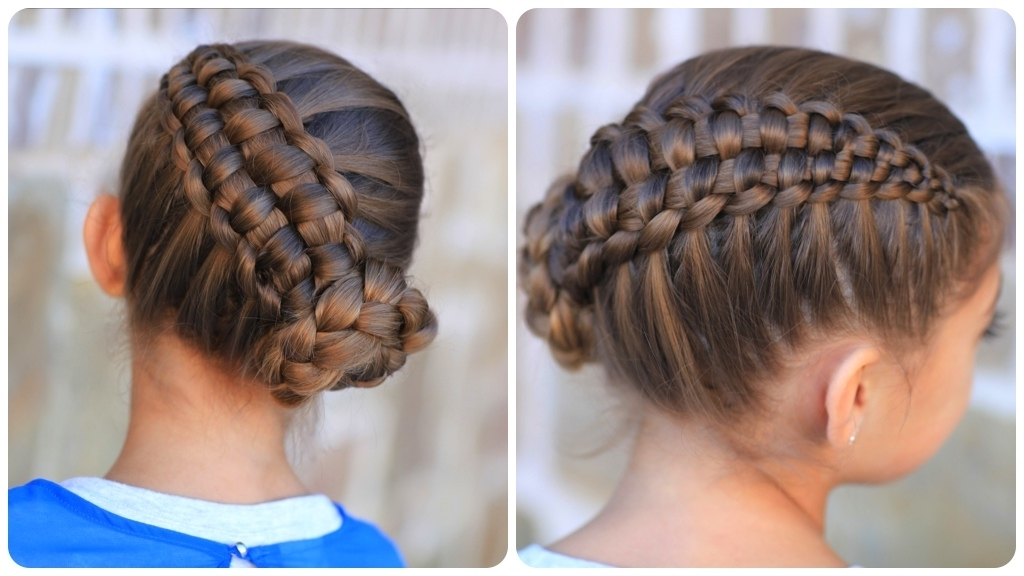 Featured Photo of Zipper Braids With Small Bun