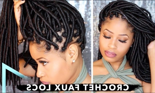 How To Crochet Individual Faux Locs With No Cornrows & No Wrapping Regarding Most Up To Date Dreadlock Cornrows Hairstyles (View 15 of 15)