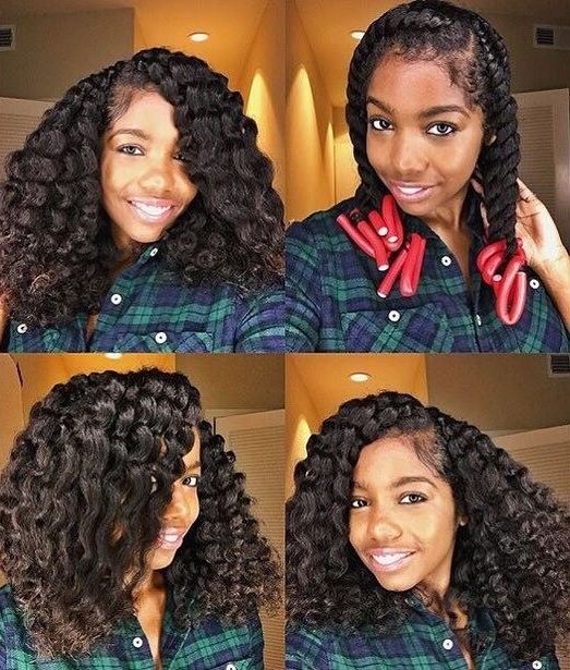 How To Curl Your Hair Without Heat: No Heat Curls Tutorials With Regard To Most Recently Flat Twists Into Twist Out Curls (View 14 of 15)