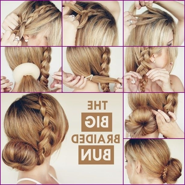 How To Diy Big Braided Hair Bun Hairstyle | For Allegra | Pinterest Pertaining To Current Large Braided Updos (View 12 of 15)
