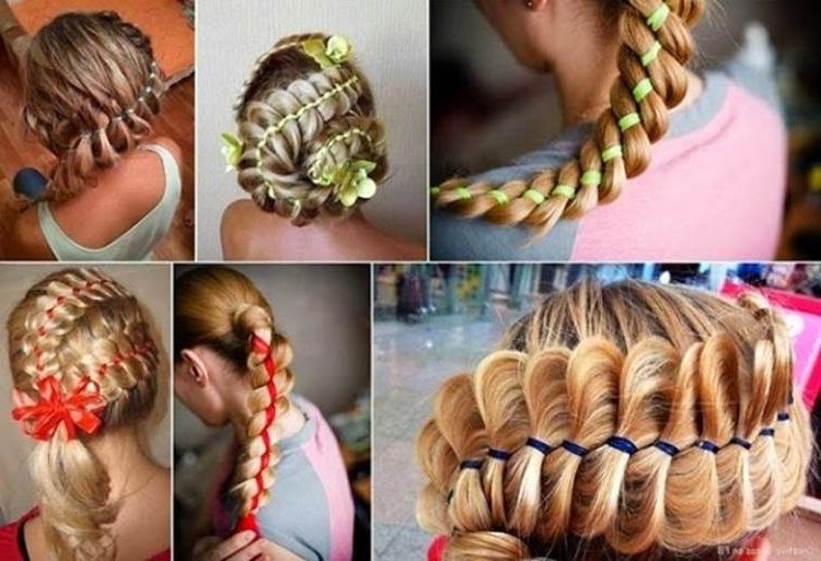 How To Diy Four Strand Ribbon Braid Hairstyle In Latest Braided Ribbon Hairstyles (View 6 of 15)