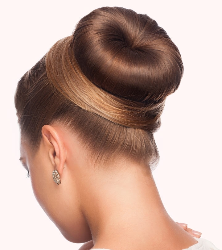 How To Do A Donut Bun – Pictorial Regarding Most Current Braid Into Sock Bun (View 13 of 15)