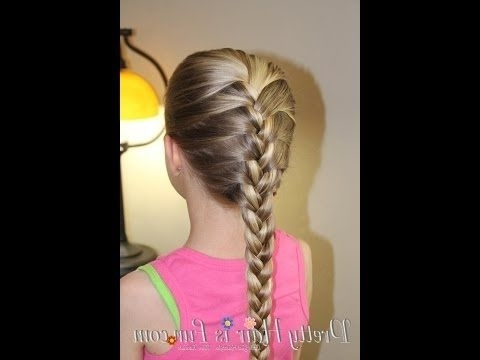 How To Do A French Braid / Basic Hairstyles – Youtube | Hair With Most Up To Date Plaits Hairstyles Youtube (View 9 of 15)