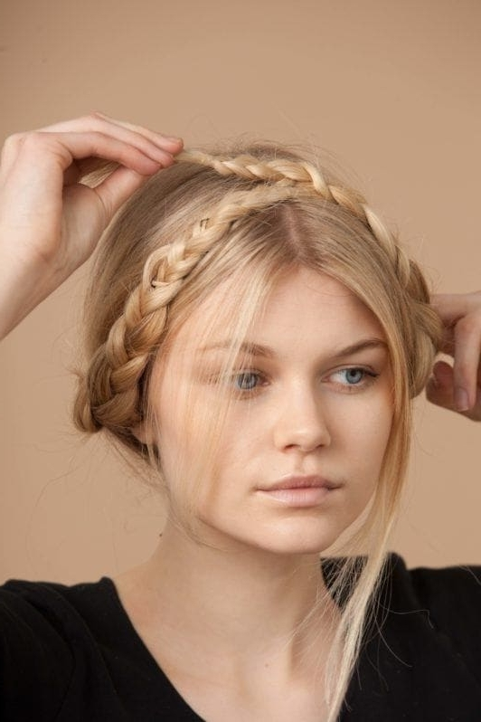 How To Do A Milkmaid Braid: A Stepstep Guide Within Most Recently Milkmaid Braided Hairstyles (View 11 of 15)