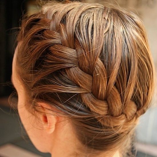 How To Do A Side French Braid | Popsugar Beauty Inside Best And Newest Pinned Up French Plaits Hairstyles (View 9 of 15)