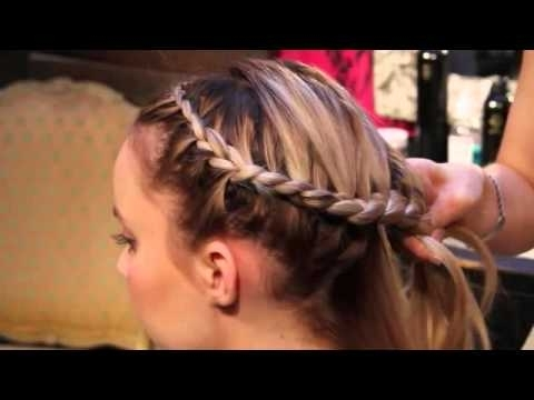 How To Do An Around The Head Braid – Youtube Inside Current Wrapped Ponytail With In Front Of The Ear Braids (View 6 of 15)