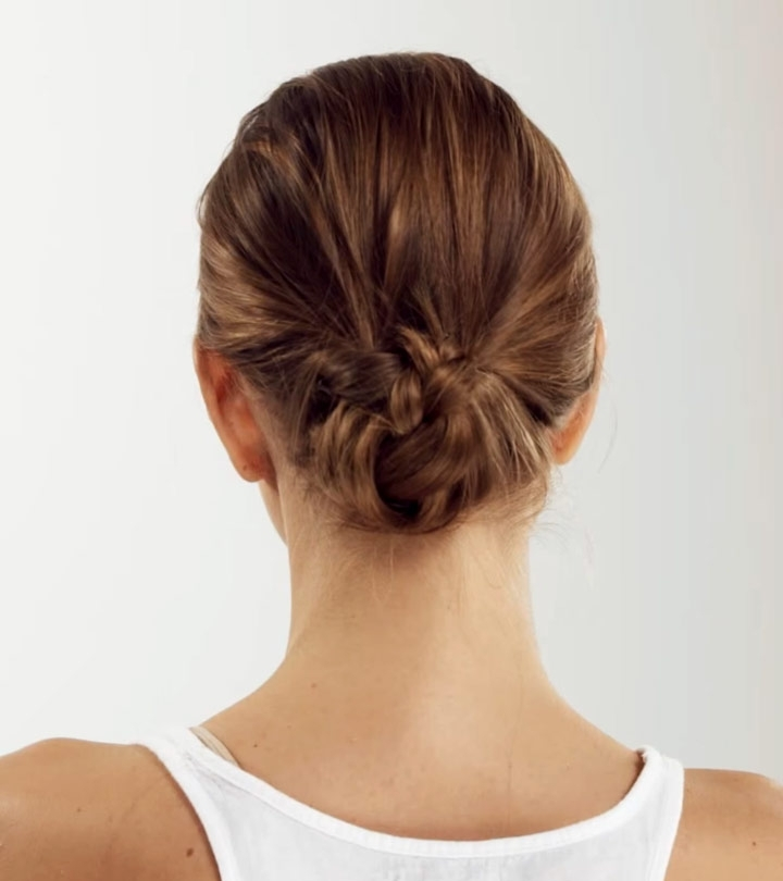 How To Do The Perfect Low Bun – A Step By Step Tutorial Throughout Best And Newest Messy Flipped Braid And Bun Hairstyles (View 10 of 15)