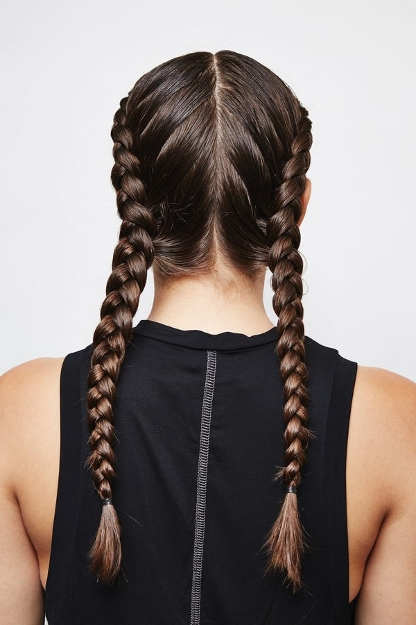 How To French Braid Hair ? (With Picture Tutorial) – Bun & Braids Intended For Most Current Pigtails Braids With Rings For Thin Hair (View 15 of 15)