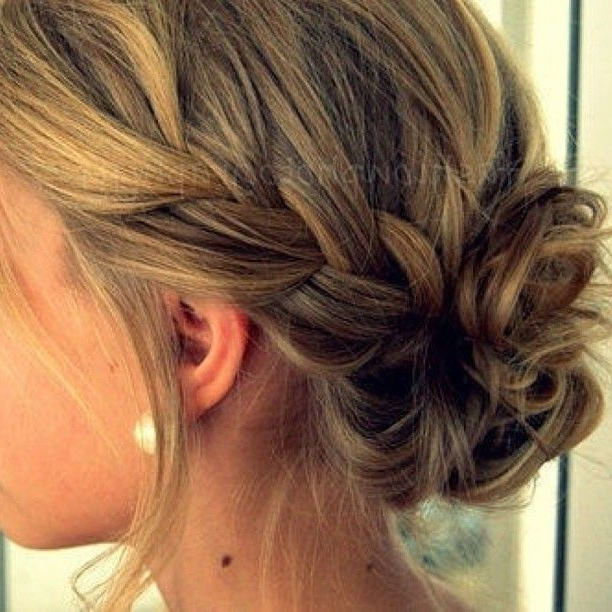 How To: French Braid Into Messy Bun. (View 7 of 15)
