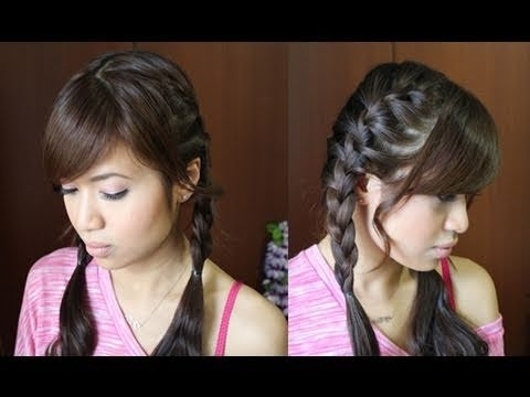 How To: French Braid Pigtails Hairstyle Hair Tutorial – Youtube Inside Current Pigtails Braided Hairstyles (View 9 of 15)
