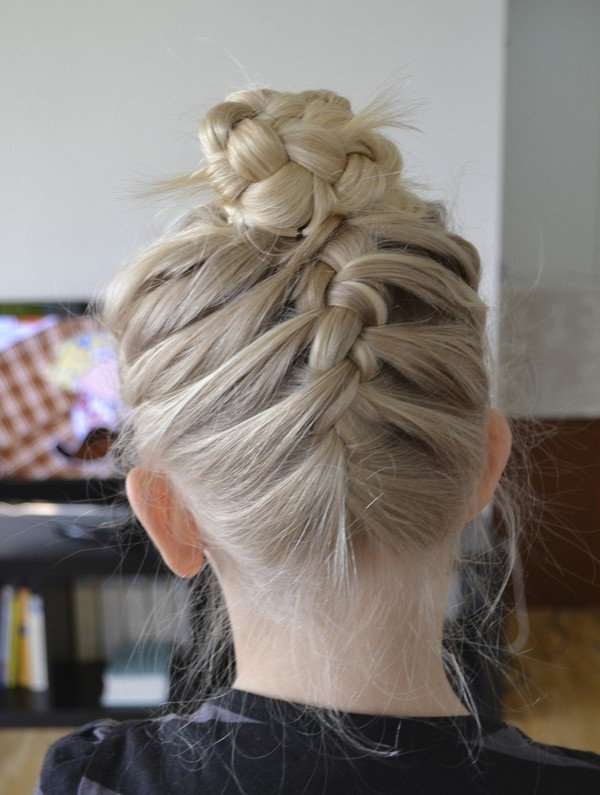 How To French Braid | Super Easy French Braid Tutorial – Part 2 Inside Current Chunky Two French Braid Hairstyles With Bun (View 2 of 15)
