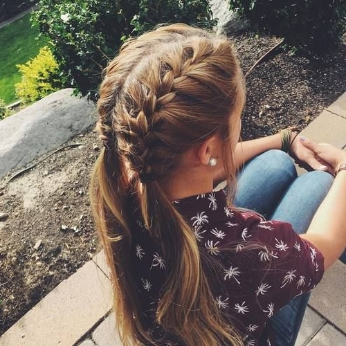How To French Braid | Super Easy French Braid Tutorial – Part 2 Intended For Most Recently Two Quick Braids And Ponytail (View 2 of 15)
