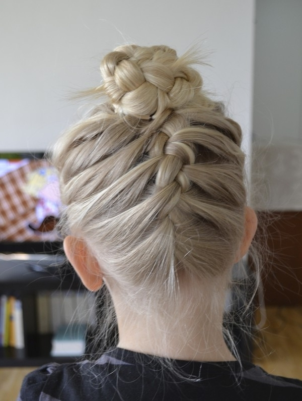 How To French Braid | Super Easy French Braid Tutorial – Part 2 Pertaining To Most Up To Date Braided Bun With Two French Braids (View 14 of 15)