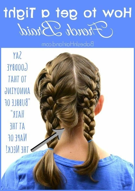How To Get A Tight French Braid | Hair | Pinterest | French Braid Intended For Most Popular French Braid Hairstyles With Bubbles (View 12 of 15)
