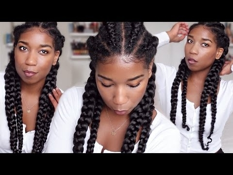 How To Ghana Cornrow Braids For Beginners   Clear Easy Steps ? Inside Best And Newest Feed In Bun With Ghana Braids (View 10 of 15)