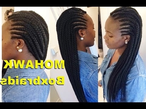 Featured Photo of Box Braids And Cornrows Mohawk Hairstyles