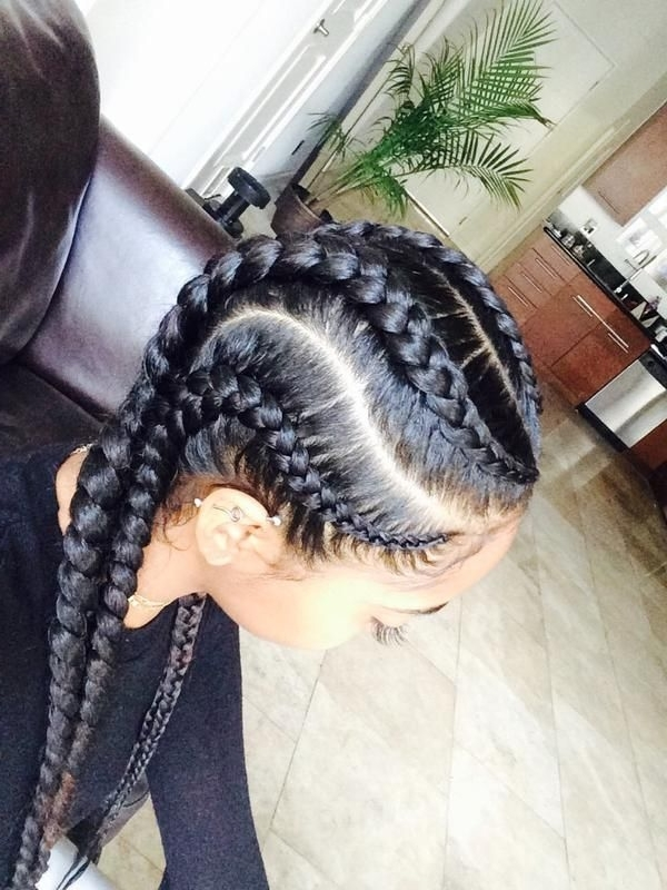 How To Rock Killer Crotchet Braids In 2015 | Hair Dos | Pinterest With Most Current Braided Hairstyle With Jumbo French Braid (View 13 of 15)