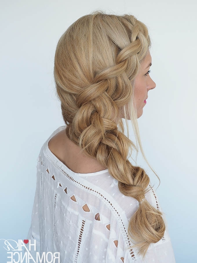 How To Style A Big Side Braid + Instant Mermaid Hair – Hair Romance For Recent Mermaid Braid Hairstyles (View 8 of 15)